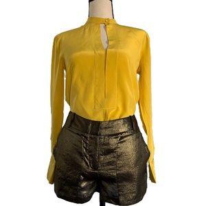 BCBGMaxazria Gold Short S & Yellow Shirt XS